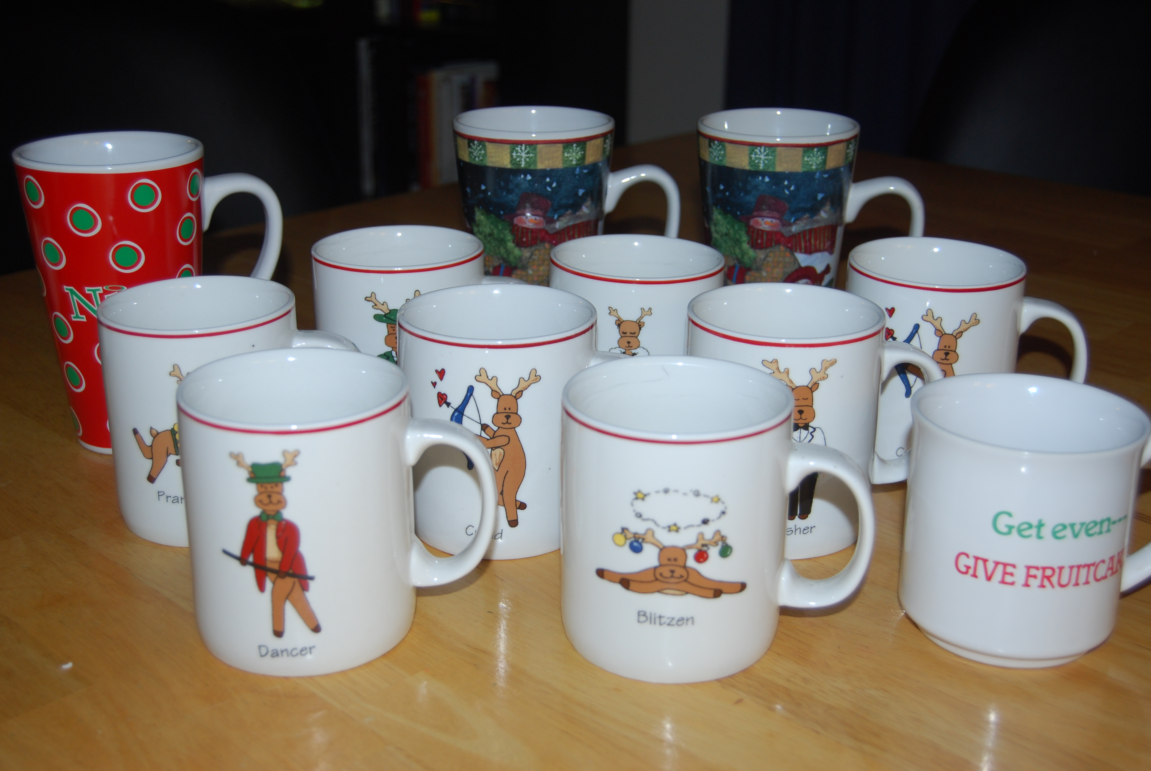 we know it's Christmastime...when I put all my coffee mugs in the attic.